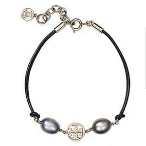 Tory Burch Miller pearl silver bracelet